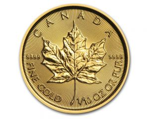 1/10 oz New Style Maple Leaf Gold Coin