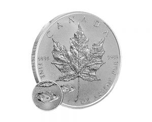 1 oz 2016 Canadian Maple Leaf Mark V Tank Privy Reverse Proof Silver Coin