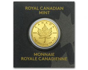 1 g MapleGram25 Single Gold Coin