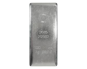 100 oz RCM Royal Canadian Mint Silver Bar