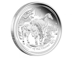 10 oz 2014 Year of the Horse Silver Coin