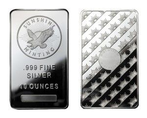 10 oz assorted Mint Silver Bar