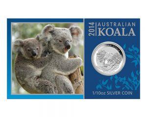 1/10 oz Australian Koala Silver Coin in Card