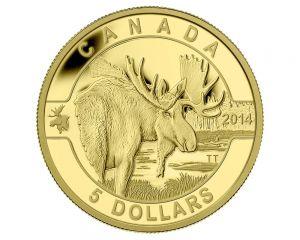 1/10 oz 2014 O Canada Series - Moose Gold Coin