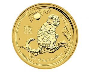 1/10 oz 2016 Perth Mint Year of the Monkey Gold Coin