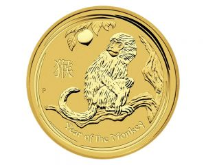 1/20 oz 2016 Perth Mint Year of the Monkey Gold Coin