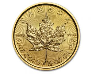 1/2 oz. 2019 Canadian Maple Leaf Gold Coin