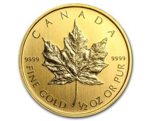 1/2 oz Random Year Canadian Maple Leaf Gold Coin