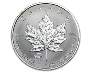 1 oz 2012 Canadian Maple Leaf Year of the Dragon Privy Silver Coin