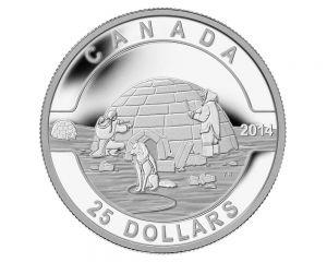 1 oz 2014 O Canada Series - Igloo Silver Coin