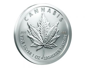 1 oz 2018 Cannabis Silver Round