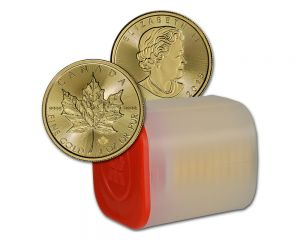 Empty Tube for 1 oz Canadian Maple Leaf Gold Coins